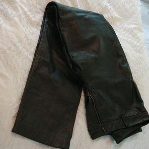 Women's leather pants